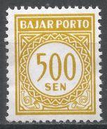 Indonesia 1962. Scott #J82 (MNH) Postage Due, Frais D'envoi - Indonésie