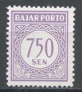 Indonesia 1962. Scott #J83 (MNG) Postage Due, Frais D'envoi - Indonésie
