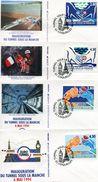 France-1994-FDC-inauguration Du Tunnel Sous La Manche-4 Enveloppes TBE - FDC