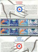 France-1994-pochette Mixte Tunnel Sous La Manche - Documents De La Poste