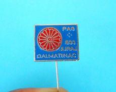 PAG LACE - Croatian Vintage Pin Badge Dentelle Encaje Spitze Merletto Pizzo Renda Kant Gourds Anstecknadel Distintivo - Cities