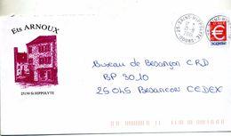 Pap Euro Cachet Saint Hippolyte Illustré Ets Arnoux - Postal Stamped Stationery