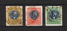 1930/1931 - Roi Charles II  LONDRA  Mi No 386/388 - 1918-1948 Ferdinand, Carol II. & Mihai I.