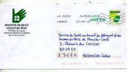 Pap Carte Flamme Chiffree Entete Ossature Bois Duquet Theme Main - Postal Stamped Stationery