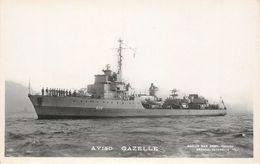 "CPA BATEAU / GUERRE ""Aviso Gazelle"" - Warships"