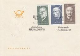 D FDC 1731 - 1735  Bedeutende Personlichkeiten, Berlin 1085 - FDC: Sobres