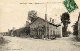 CPA - TRAINEL (10) - Aspect Du Carrefour De La Route De Sens Et De La Rue De La Basse-Borde En 1911 - Altri Comuni