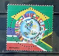 BRAZIL C 2981 Selo Copa Mundo Futebol Africa Sul 2010 World Cup Football South Africa - Brasil