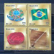 BRAZIL C 3031 Selo Simbolos Nacionais 2010 National Symbols Hino Coat Of Arms Flag Seal - Brazil