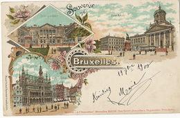 Gruss Litho Couleur Bruxelles   Rosenblat Francfort  Ecrite En 1900 - Belgium