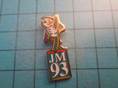 Pin116c Pin's Pins / JM 93 JEUX MEDITERRANEENS POISSON MASCOTTE  , Belle Qualité ;  Marquage Au Dos : --- - Pin