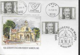 AUTRICHE   FDC   1980  Poete Robert Hamerling - Schrijvers