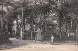 "D6239 ""VIETNAM - SAIGON - L'HOTEL DU COMMANDANT DE LA MARINE""  ANIMATA, MILITARE. CART  NON SPED - Vietnam"