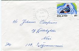 Iceland/Islande/Ijsland/Island Fine Small Domestic Cover 1977 Reykjavík Fine Bird Franking - Otros