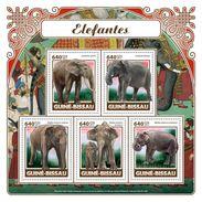 GUINEA BISSAU 2017 - Elephants. Official Issue - Elephants
