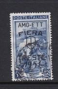Trieste Allied Military Government S 123 1951 3rd Trieste Fair, 55 Lira Blue Used - 7. Trieste