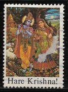 God Godess Krishan Radha 'HARE KRISHNA' Used Stamp # AR:114 - Hinduism