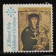 God Jesus & Mother Mary 'A BLESSED HOLY CHILDHOOD CHRISTMAS' Used Stamp # AR:115 - Christianity