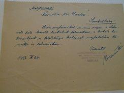 AD025.11 Karmelita Nöi Zarda -Szombathely  1937 - Korcsmaros Istvan Sarvar - Rechnungen