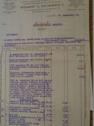 AD025.12 Hatschek ,Gutmann és Tsa - Electrical Engineering  Company Budapest -Factura - Invoice - Mauthner Istvan  1937 - Facturas & Documentos Mercantiles