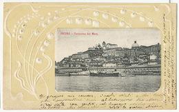 Ancona Panorama Dal Mare Gaufrée Embossed - Ancona