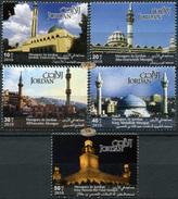 Jordan. 2010. Jordanian Mosques (MNH OG **) Set Of 5 Stamps [DLC.ST-003994] - Giordania