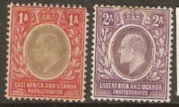 K.U.T. East Africa And Uganda 1904 SG 18-19 1a, 2a,  Mounted Mint - Kenya, Uganda & Tanganyika