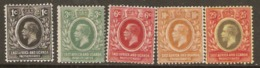K.U.T. East Africa And Uganda 1912 Various Values To 25c  Mounted Mint - Kenya, Uganda & Tanganyika