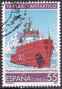 Spagna, 1991 - 55p Antarctic Treaty - Nr.2666 Usato° - 1931-Oggi: 2. Rep. - ... Juan Carlos I
