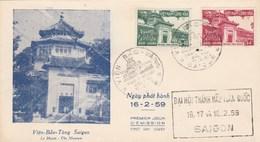 Viet Nam FDC Yvert Série 104 Et 105 Musée De Saïgon 16/2/1959 - Vietnam