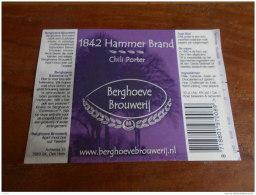 BIERETIKET BERGHOEVE HAMMER BRAND CHILI PORTER - Beer