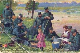CPA EN GUERRE - SUR L'YSER. Femme Faisant La Cuisine Des Belges - The War - On The Yser. Woman Cooking For The Belgians - War 1914-18