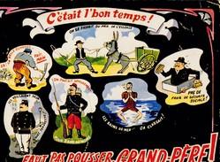 Dessin De R. Allouin.-  C'ETAIT L'BON TEMPS. - FAUT PAS POUSSER GRAND-PERE - Humour