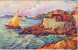 CPA Bouches-du-Rhône - Marseille 197 - La Corniche, Le Marégraphe - Editions Mireille - 1936 - Endoume, Roucas, Corniche, Beaches