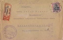 N° 88 Obl. Feldpost Le 27/03/18, Recommandé Deutsche Feldpost 310 + Cachet Marinekorps Pour Strasbourg - Germany