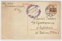 CZESTOCHOWA - Poste Locale Sur Entier Postal - Varsovie Oblitération 23 Avril 1917 Arrivée Le 24 Avril 1916 - ....-1919 Provisional Government