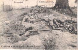 AK  -O164  K.U.K.  UNSERE  TRUPPEN  IN DEN KARPATEN - Oorlog 1914-18