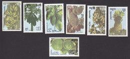 Cambodia, Scott #728-734, Mint Hinged, Fruit, Issued 1986 - Cambodja