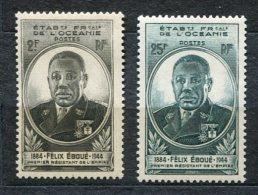 3495   OCEANIE   N° 180/81**  1945  Gouverneur Général Eboué   SUPERBE - Oceania (1892-1958)