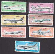 Cambodia, Scott #735-741, Mint Hinged, Airplane, Issued 1986 - Cambodja