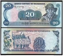 NICARAGUA 20 CORDOBAS 1985 P 152 UNC - Nicaragua