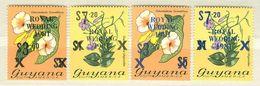 Guyana MNH Flowers Stamps With Diana´s Wedding Overprints - Guyana (1966-...)