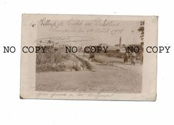 CARTE PHOTO DE PALESTINE : VILLAGE DE LUDD 1918 -ISRAEL LOD / AL-LUDD / 14 X 8 CM - GUERRE MILITARIA MOSQUE - Israel