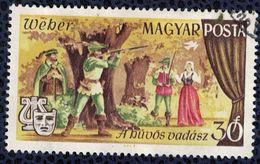 Hongrie 1967 Oblitéré Used Scènes Opéra Der Freischütz De Carl Maria Von Weber SU - Hongrie