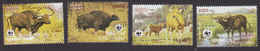 Cambodia, Scott #745-748, Used, World Wildlife Fund, Issued 1986 - Cambodge