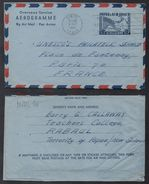 PAPOUASIE - PAPUA - RABAUL - NEW GUINEA / 1962 AEROGRAMME VOYAGE POUR LA FRANCE (ref 7505) - Papua-Neuguinea