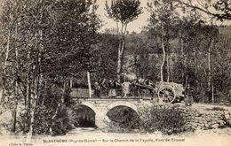 SAINT-ANTHEME SUR LE CHEMIN DE LA FAYOLLE PONT DE TROMEL (TRES ANIMEE) - Francia