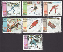 Cambodia, Scott #752-758, Mint Hinged, Winter Olympica, Issued 1987 - Cambodia