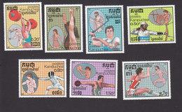 Cambodia, Scott #760-766, Mint Hinged, :Summer Olympics, Issued 1987 - Cambodge