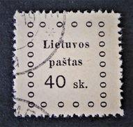 EMISSION DE KAUNAS 1919 - OBLITERE - YT 22 - MI 17 - Lithuania